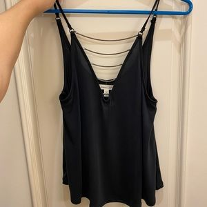 Silence + Noise low cute chained v-neck flowy tank
